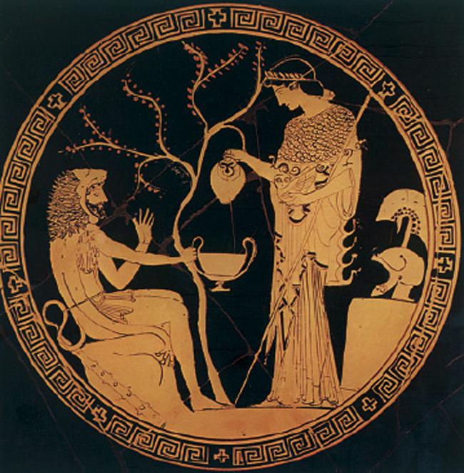 Ο Ηρακλής και η θεά Αθηνά, που πάντα του συµπαραστεκόταν.