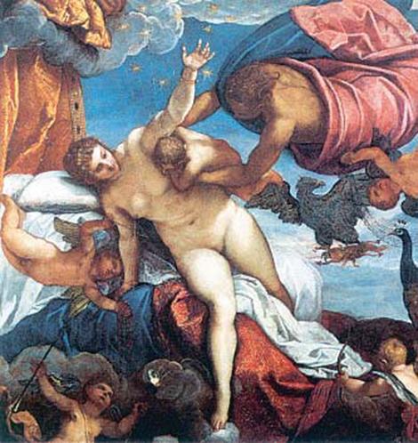 1. Η Ρέα δίνει τη φασκιωμένη πέτρα στον Κρόνο.
